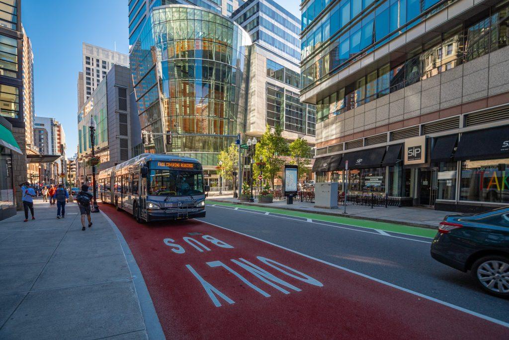 Bus Only Lane in Boston