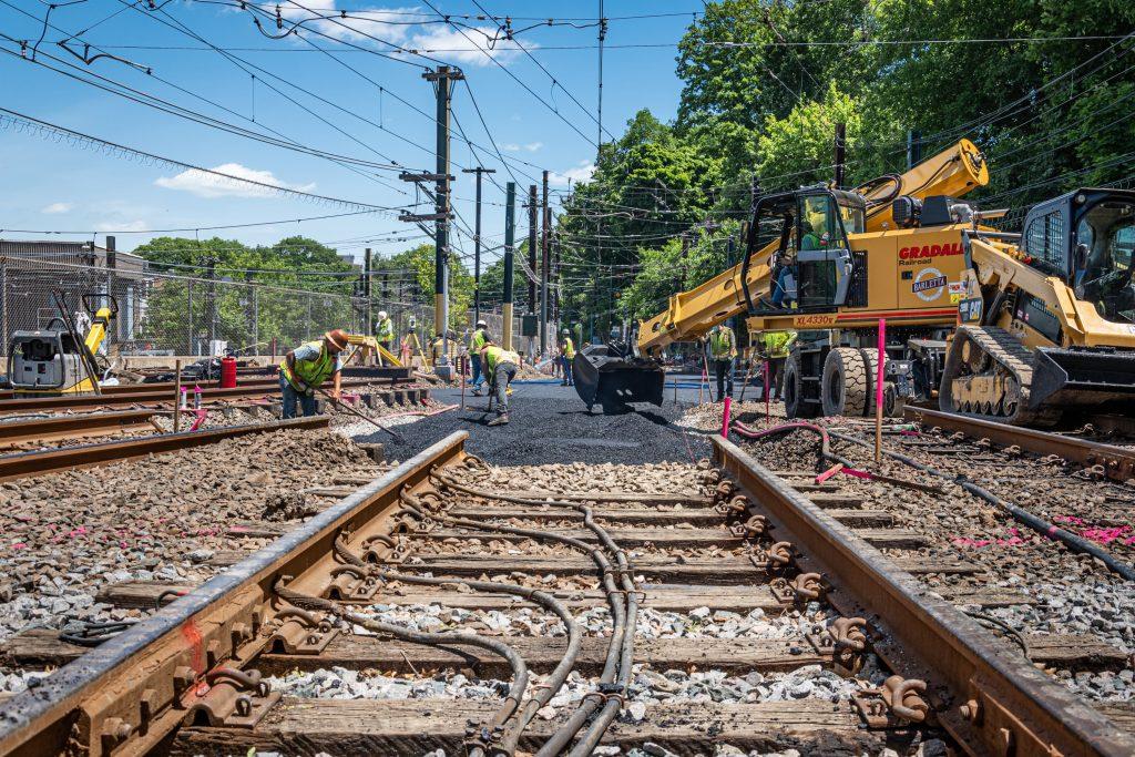 Above Ground Track Under Construction