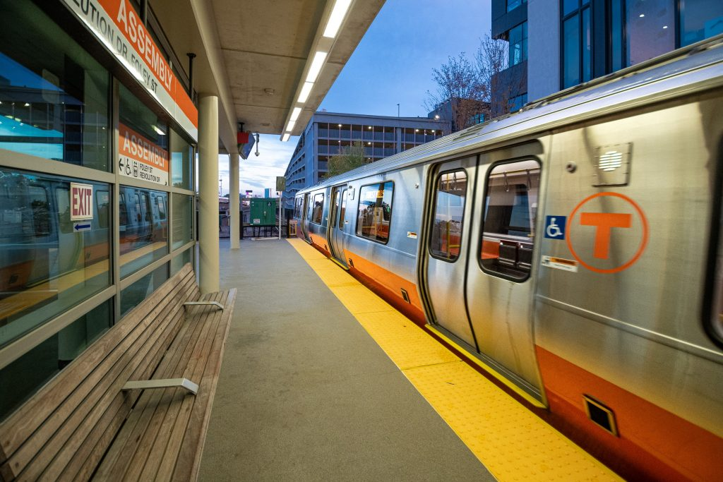 Orange Line Train at Assembly Station