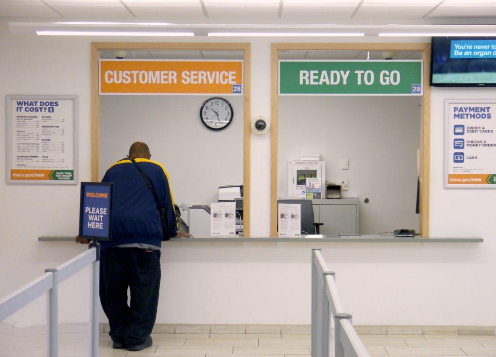 Customer Service Line at RMV Center